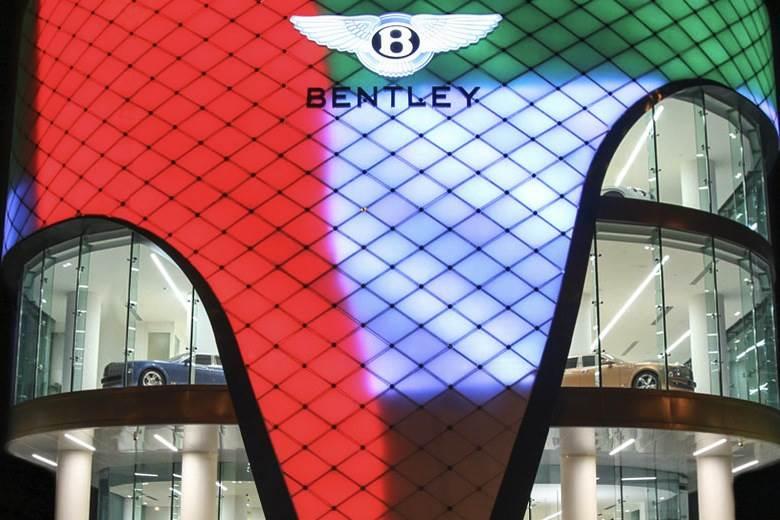 Bentley's biggest showroom opens in Dubai