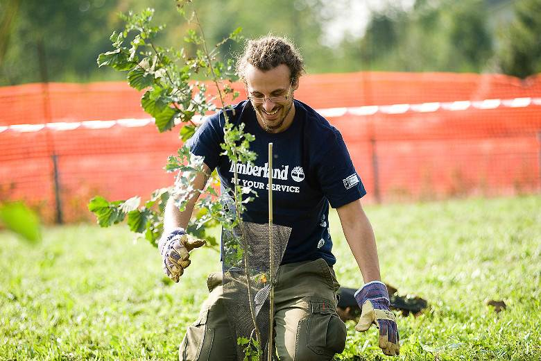 Timberland employees are still giving back 25 years on