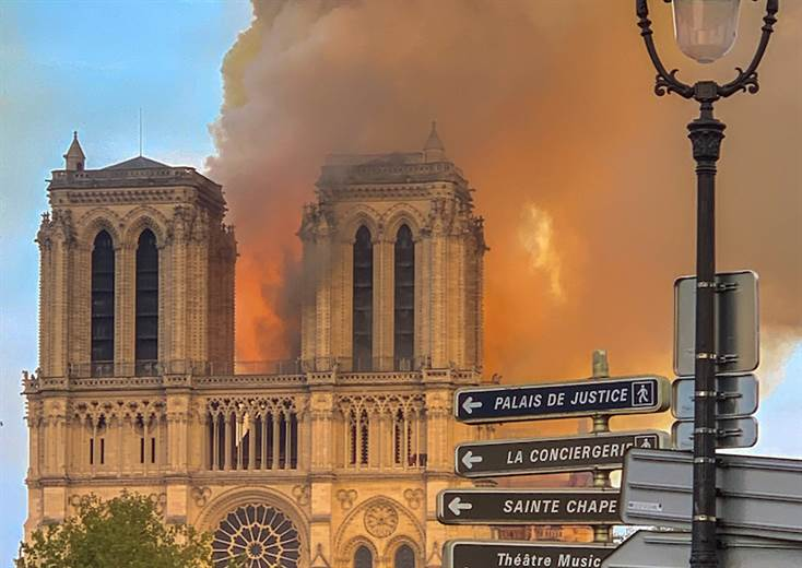 Luxury groups respond quickly after fire ravages Notre-Dame