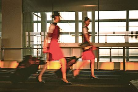 Airlines relax high-heel rules - leather, world leather