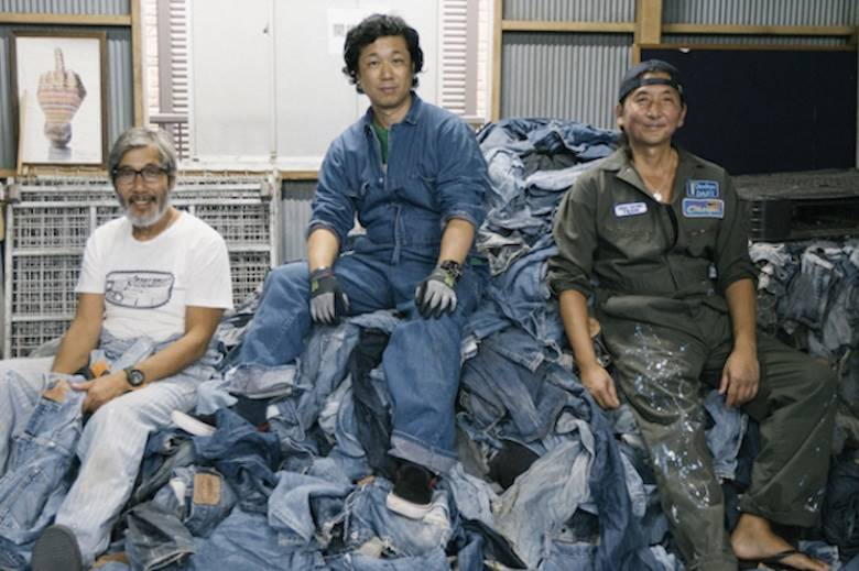 20 tonnes of used Levi's 501s fit for a new purpose in Japan